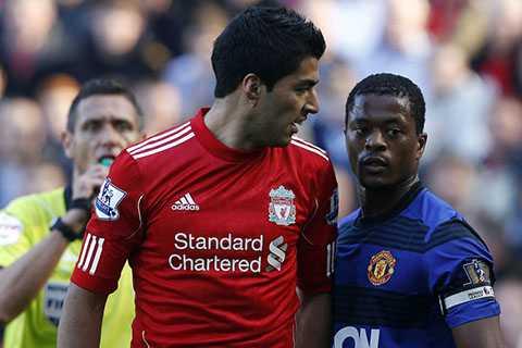 Suarez và Evra trong vụ phân biệt chủng tộc đầu mùa giải 2011-2012