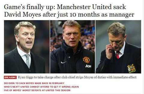 Independent nhấn mạnh Man Utd đã rất ngắn gọn khi thông báo sa thải