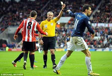 Gareth Bale nhận thẻ vì ăn vạ nhiều như 'cơm bữa'