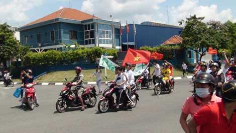 Một số hình ảnh tuần hành của công nhân tại một số khu công nghiệp trên địa bàn tỉnh Bình Dương.