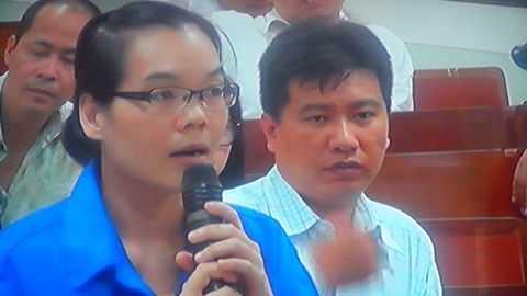 Huỳnh Thị Huyền Như, người đã chiếm đoạt số tiền 718 tỷ đồng. Ảnh chụp qua màn hình.