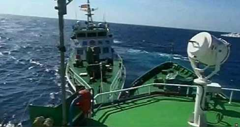 Tàu Trung Quốc hung hăng đâm tàu chấp pháp Việt Nam