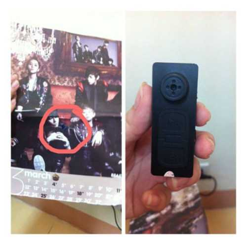 Hình ảnh chiếc camera được cho là gắn trộm trong nhà vệ sinh nữ của ĐH Kinh tế quốc dân.