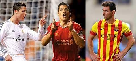 Cristiano Ronaldo và Lionel Messi không cùng đẳng cấp với Suarez