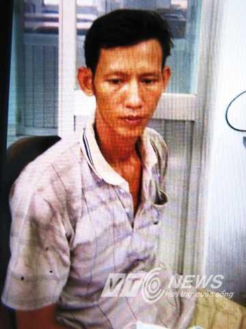 Hung thủ Lê Thanh Hùng tại cơ quan điều tra