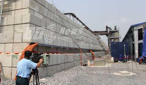 Khu vực xử lý nhiệt đối với đất bị nhiễm dioxin tại sân bay Đà Nẵng