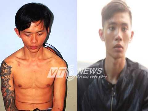 Nguyễn Phi Hùng (trái) và Nguyễn Thanh Danh tại cơ quan điều tra