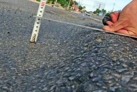 Quốc lộ 18 (đoạn Uông Bí-Hạ Long - Quảng Ninh) vừa khánh thành 1 tuần đã có biểu hiện xuống cấp, lún sâu gần 7cm