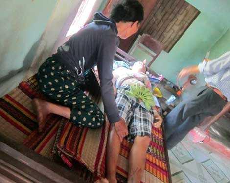 Nạn nhân Phạm Thành Thiện có hoàn cảnh gia đình rất khó khăn.
