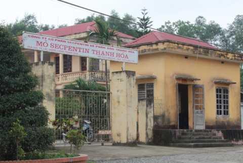 Xí nghiệp khai thác mỏ của công ty CP secpentin và phân bón Thanh Hóa ở xã Tế Lợi, huyện Nông Cống, tỉnh Thanh Hóa.