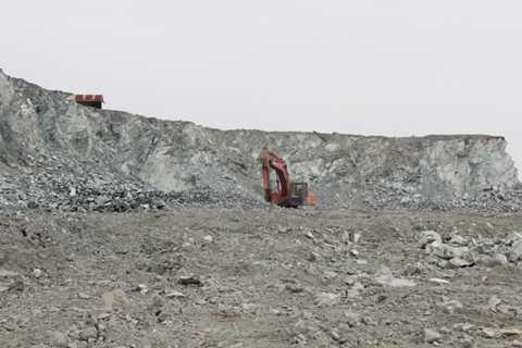 Vùng mỏ tranh chấp của hai đơn vị khai thác.