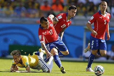 Chile đã chơi tốt trong 45 phút đầu tiên