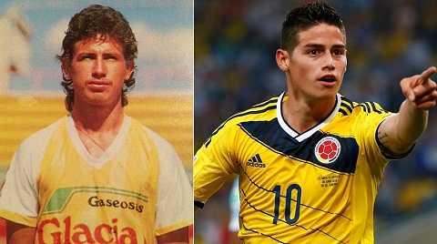 James Rodriguez là con nhà nòi khi cha anh cũng là cầu thủ