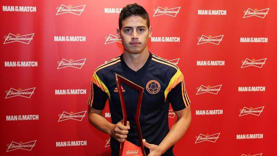 Cầu thủ xuất sắc nhất trận Colombia - Uruguay