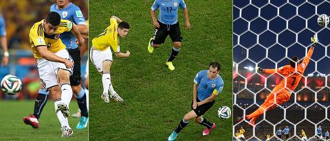 Siêu phẩm để đời của Rodriguez vào lưới Uruguay