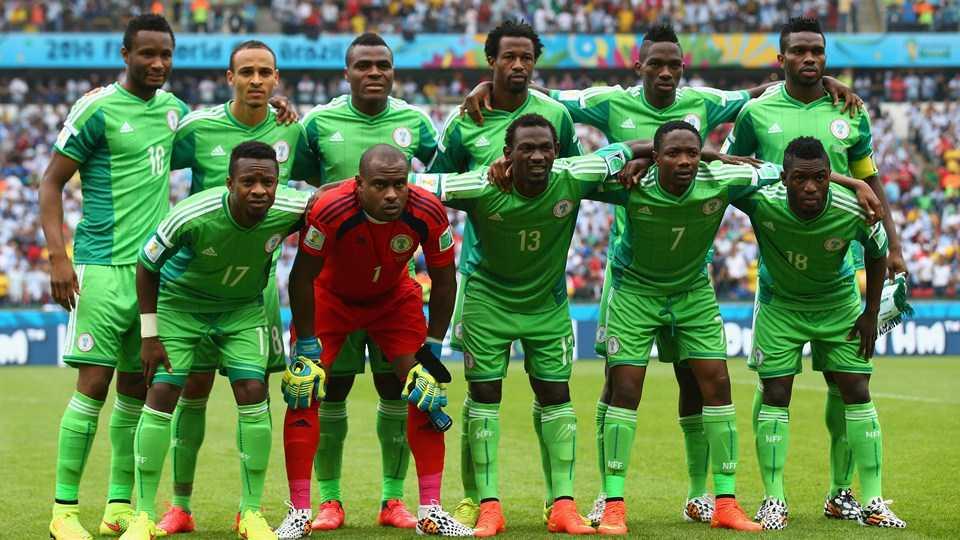 Đội hình tuyển Nigeria trong trận đấu với Argentina tại World Cup 2014