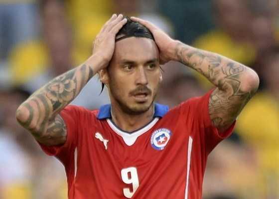 Pinilla được cho là dính dáng đến vụ ẩu đả trong đường hầm trận Brazil-Chile