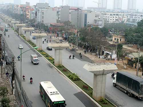 Đường sắt trên cao Cát Linh - Hà Đông, một trong những dự án lớn của nước ta mà doanh nghiệp Trung Quốc thắng thầu  (Ảnh: Thế Kha)
