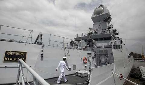 Một tàu chiến của Ấn Độ- Ảnh minh họa