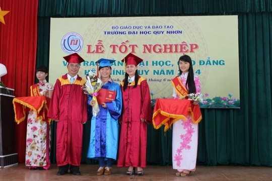Lễ tốt nghiệp của sinh viên khóa 33 trường ĐH Quy Nhơn
