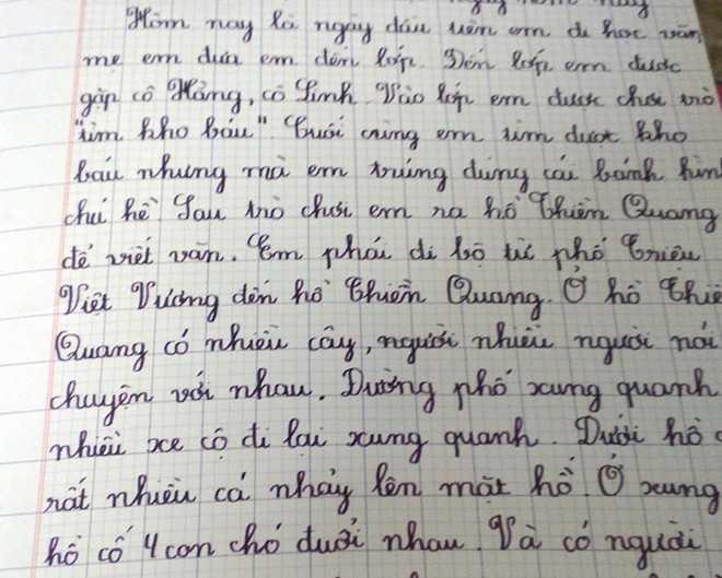 Bài văn của bé Minh Nguyên.