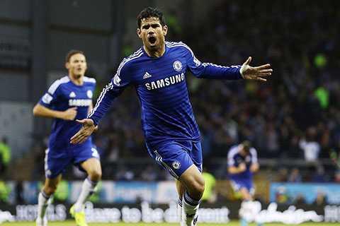 Diego Costa ghi bàn gỡ hòa cho Chelsea