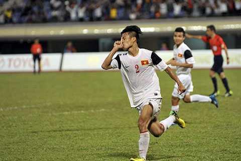 Văn Sơn là người ghi bàn thắng duy nhất