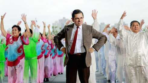 Sự xuất hiện của Mr.Bean đã khiến tất cả mọi người có mặt vô cùng thích thú.