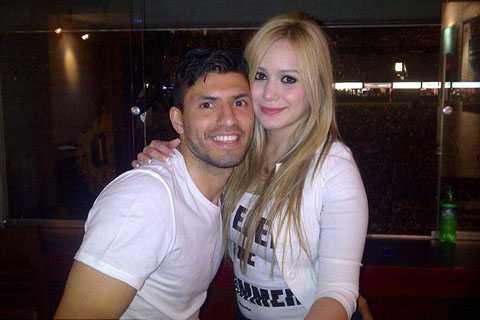 Aguero và bạn gái chẳng mấy hào hứng khi Marcos Rojo đến Manchester