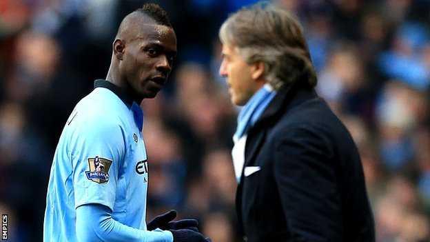 Balotelli dường như chưa sợ bất cứ ông thầy nào của mình