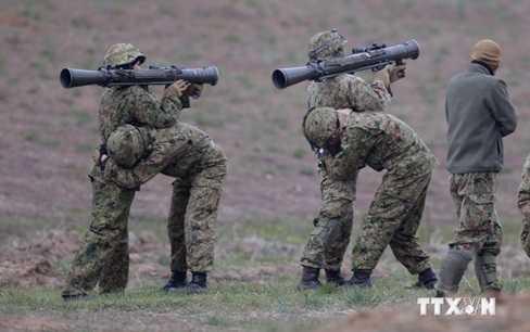 Lực lượng phòng vệ mặt đất Nhật Bản và lính thủy đánh bộ Mỹ tham gia cuộc diễn tập