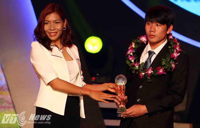 Minh Vương sẽ lên ĐT U19 Việt Nam, chuẩn bị cho vòng chung kết U19 Đông Nam Á (Ảnh: Quang Minh)