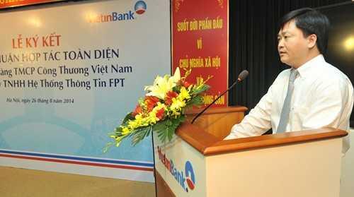 Tổng Giám đốc VietinBank Lê Đức Thọ phát biểu tại buổi lễ