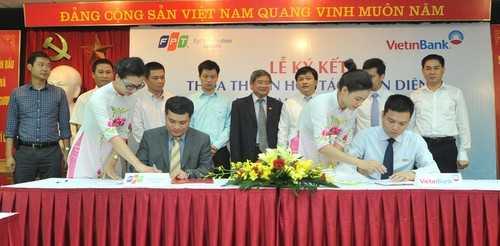 Lễ ký kết thỏa thuận hợp tác toàn diện giữa VietinBank và FPT IS