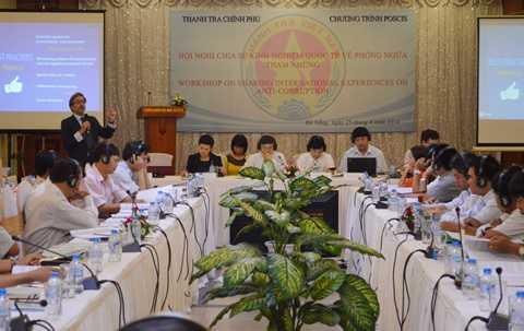 Hội nghị chia sẻ kinh nghiệm quốc tế về phòng ngừa tham nhũng do Thanh tra Chính phủ tổ chức tại Đà Nẵng.