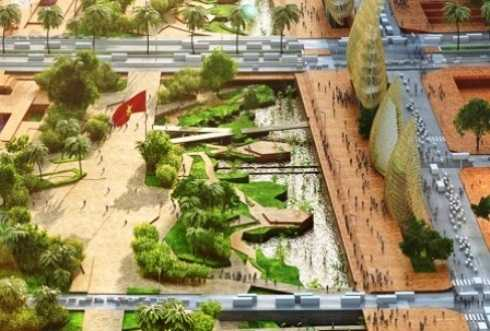 Quảng trường và công viên bờ sông lớn nhất Việt Nam sẽ có sức chứa cùng lúc tối đa lên đến 430.000 người.