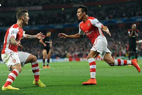 Alexis Sanchez ghi bàn thắng duy nhất cho Arsenal