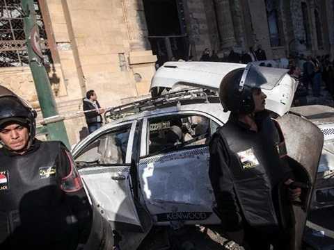Hiện trường một vụ đánh bom do nhóm Ansar Bayt al-Maqdis gây ra - Ảnh minh họa