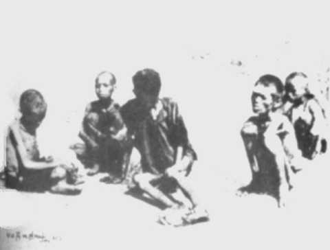 Nạn đói năm Ất Dậu - 1945. (Ảnh: Võ An Ninh)