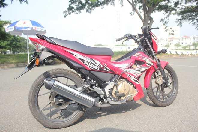 Suzuki Raider tuy mới ra mắt thị trường Việt Nam nhưng được rất nhiều người ưa thích. Ảnh: Minh Anh.