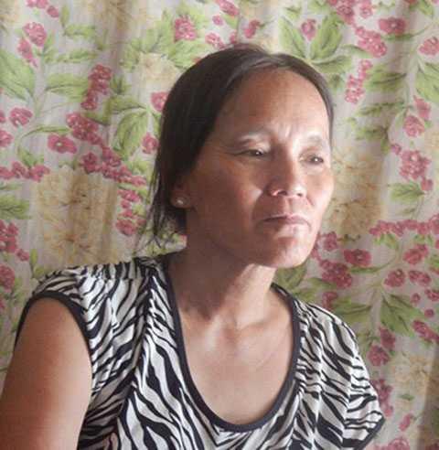 Bà Nguyễn Thị Thanh kể lại lúc phát hiện thi thể của người phụ nữ xấu số.