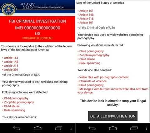Mã độc tống tiền và gửi tin nhắn khủng bố