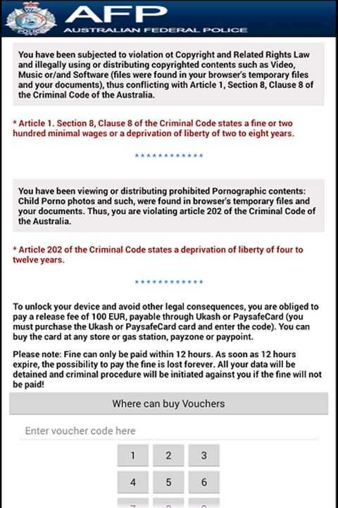 Mã độc cáo buộc người dùng vi phạm bản quyền