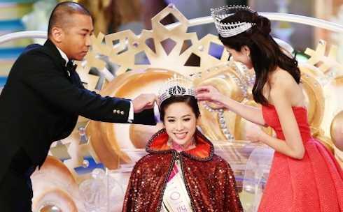 Veronica Shiu đăng quang ngôi vị Hoa hậu Hồng Kông 2014.