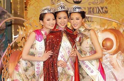 Veronica Shiu và Á hậu 1 Erin Wong và Á hậu 2 Katherine Ho