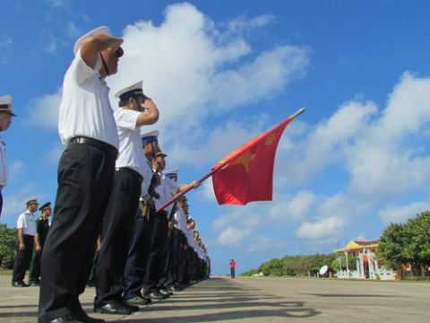 Lễ chào cờ sáng 2/9 trên đảo Trường Sa.