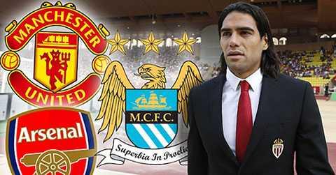 Falcao là mục tiêu tranh giành của Arsenal, Man City và Man Utd
