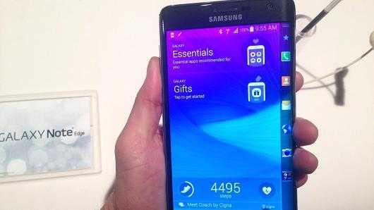 Màn hình mặt hông cong độc đáo của Galaxy Note Edge giúp người dùng truy nhập nhanh chóng vào các ứng dụng thường sử dụng