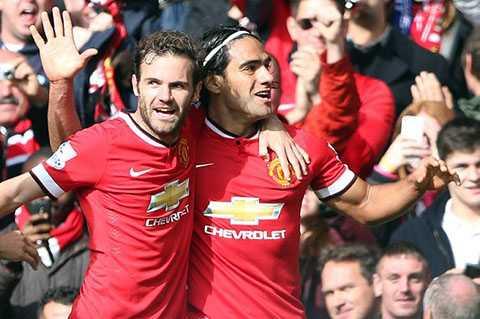 Falcao có bàn thắng đầu tiên cho Man Utd