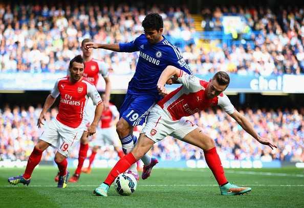 Diego Costa là mối nguy hiểm thường trực trước khung thành Arsenal
